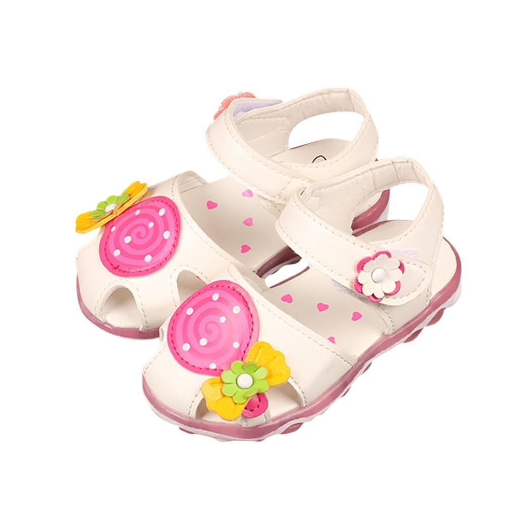 Sandalias de Verano Xinantime Summer Kids Baby Girls Lollipop Sandalias de Flores Sandalias Princesa Zapatos Casuales 1-5 a/ños