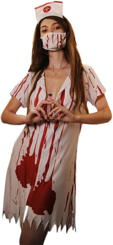 SASA Disfraz de Halloween Enfermera de la Sangre Mujeres fantasía ...
