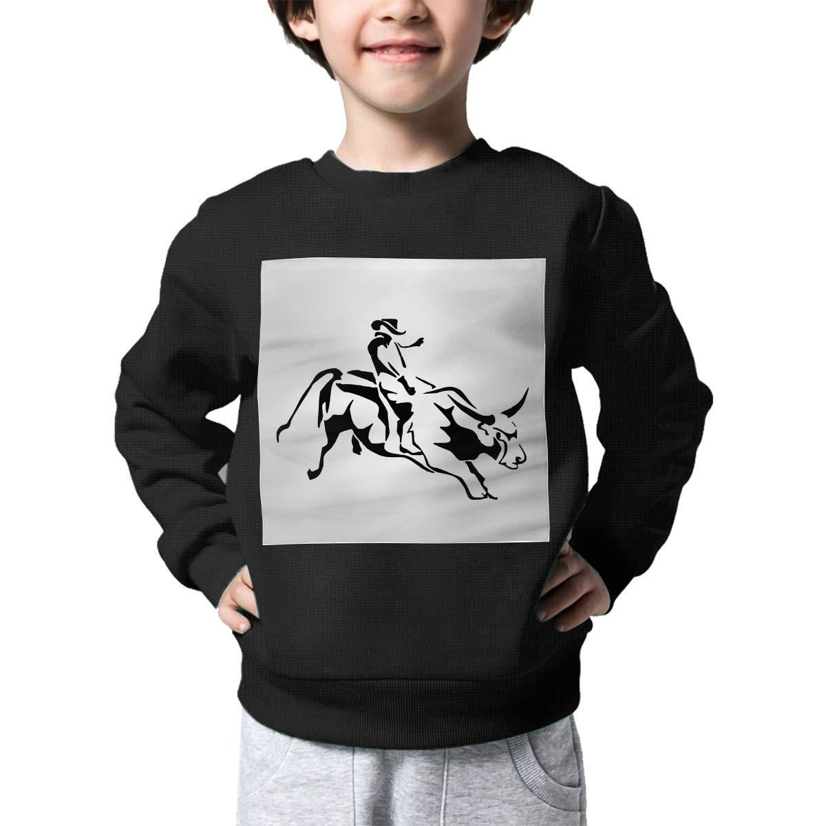 AW-KOCP Childrens Bull Riding Sweater Kids Sweatshirt