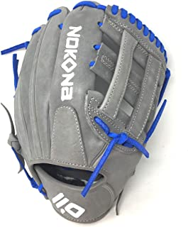 product image for Nokona American KIP Gray with Royal Laces 11.5 Baseball Glove Closed H Web Right Hand Throw