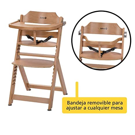 Amazon.com: Trona evolutiva Timba alta silla madera natural ...
