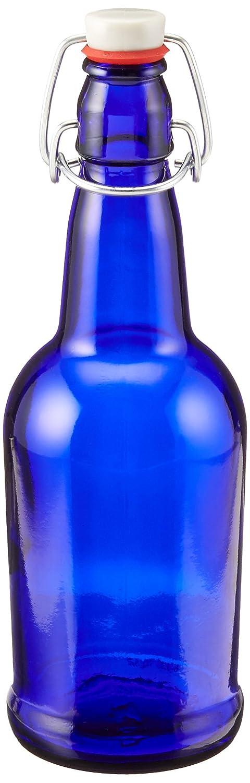 16 oz. Cobalt Blue Bottles EZ Cap Flip Top Home Brewing Growlers (2 Bottles) Home Brew Ohio KV-L941-Z7Z5
