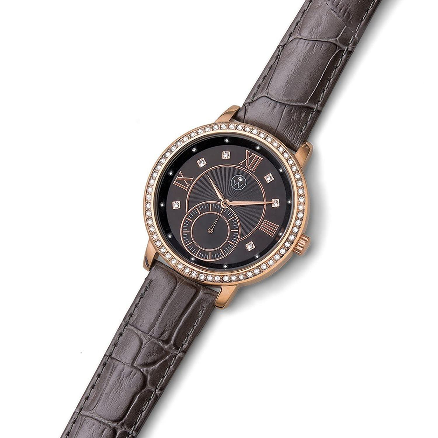 Oliver Weber Uhr Istanbul grey with Crystals from Swarovski Damen