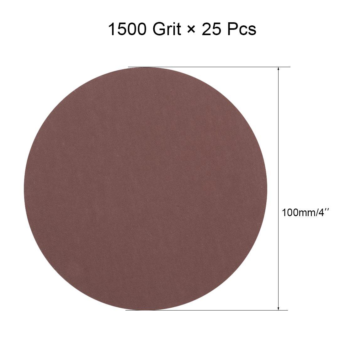 5Pcs 3 Inch Hook and Loop Sanding Disc 1500 Grits Flocking Sandpaper Brown