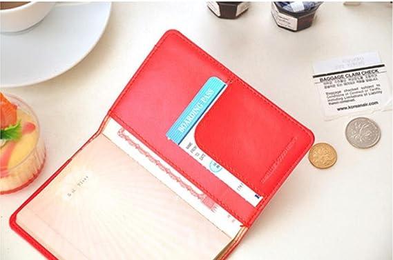 Kolylong/® Nouveau Titulaire De Carte-Passeport En Cuir Wallet Case Voyage Protecteur Sac Porte Passeport
