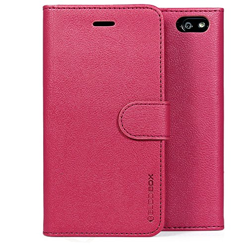 BUDDIBOX Fire Phone Case,  [Wallet Case] Premium PU Leather Wallet Case with [Kickstand] Card Holder and ID Slot for Amazon Fire Phone, (Pink)