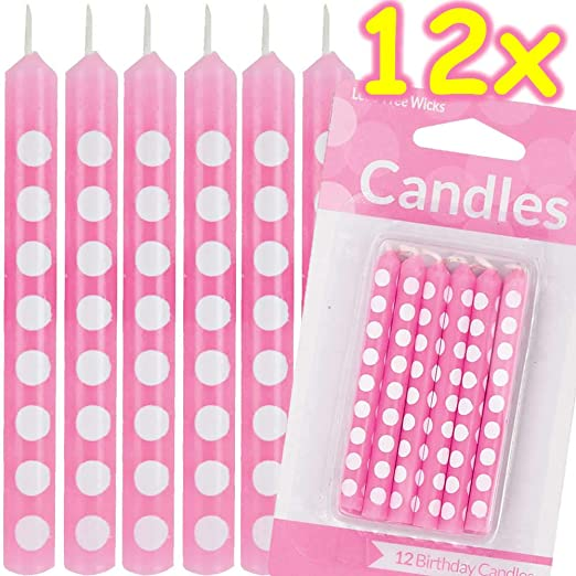 Carpeta 12 Velas Rosas con Lunares Blancos * Polka Dots ...