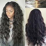 Helene Hair 2016 Hot Hair Natural Wave Wig Brazilian Virgin Hair Human Hair Glueless Full Lace Wigs With Baby Hair 180% Density ( 8')