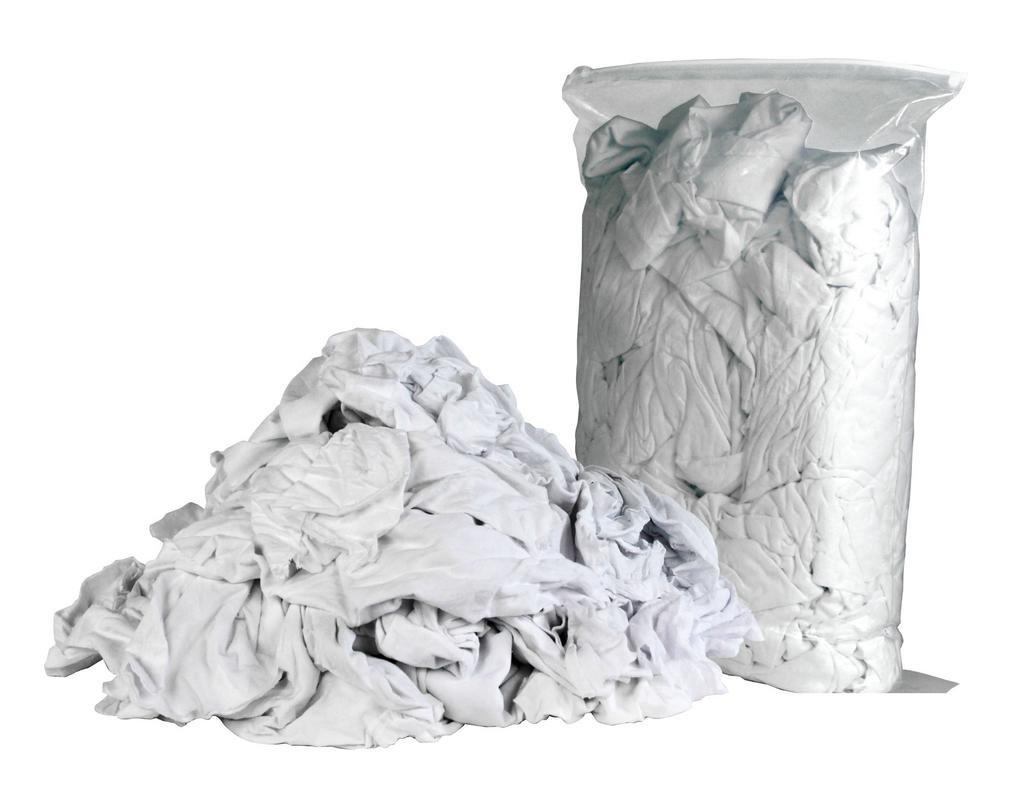 Sellars White T-Shirt Rags: 4lb bag