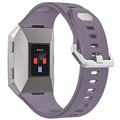 para Fitbit Bandas iónico, Wearlizer Reloj Inteligente Bandas de TPU con Protector de Pantalla [