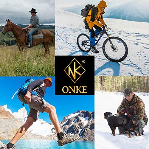ONKE Men's Merino Wool Moisture Wicking Control Thermal Outdoor Hiking Heavy Cushion Low Cut Socks 4 Pack
