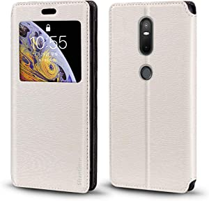 Lenovo Phab 2 Plus Case, Wood Grain Leather Case with Card Holder and Window, Magnetic Flip Cover for Lenovo Phab 2 Plus