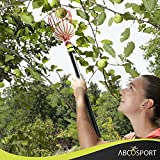 Abco Tech Fruit Picker Tool or Fruit Tree Picking Pole with Basket–13ft Long Aluminum Tree Picker with Telescoping Pole–Extra Lightweight–Ideal for Picking Oranges,Apples or any Kinds of Fruits