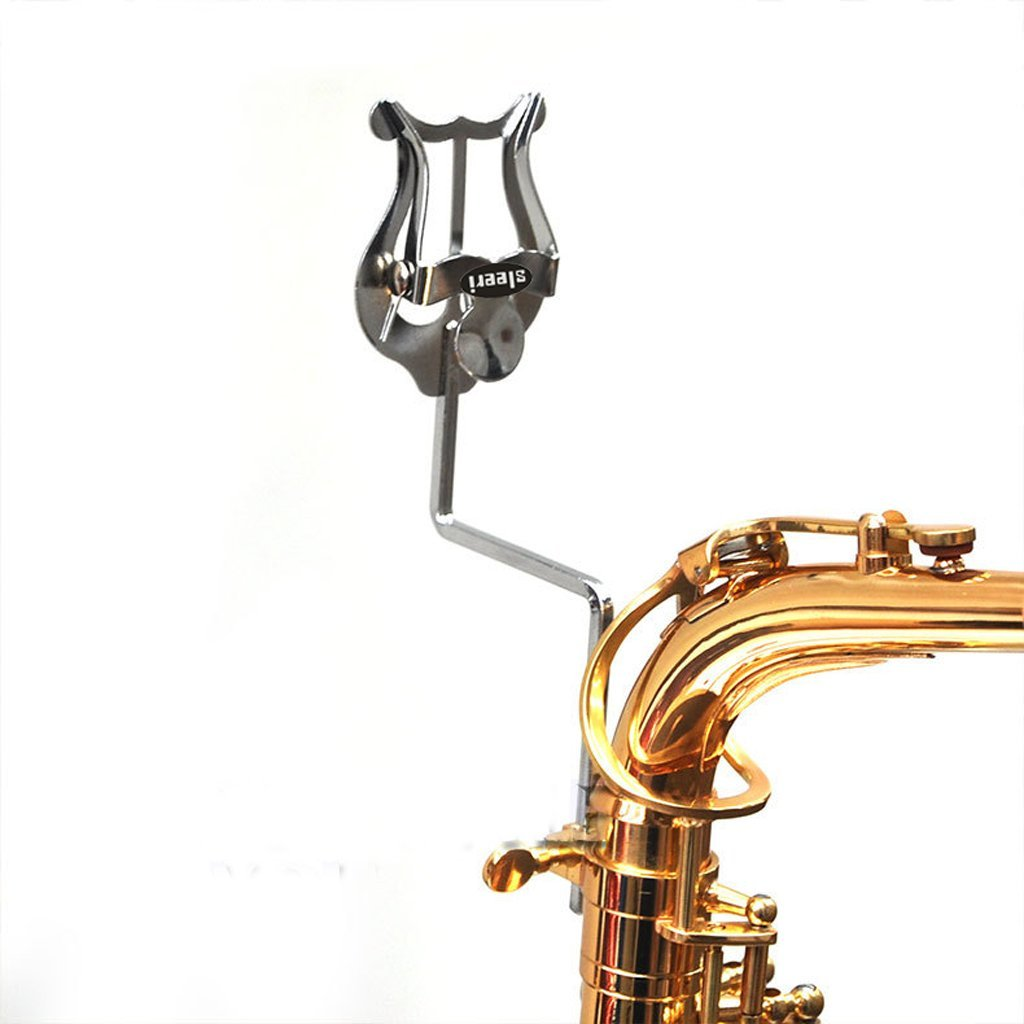 Alto Saxophone Sheet Music Clip Stand Stainless Steel Sax Lyre Clamp-On Holder SLS