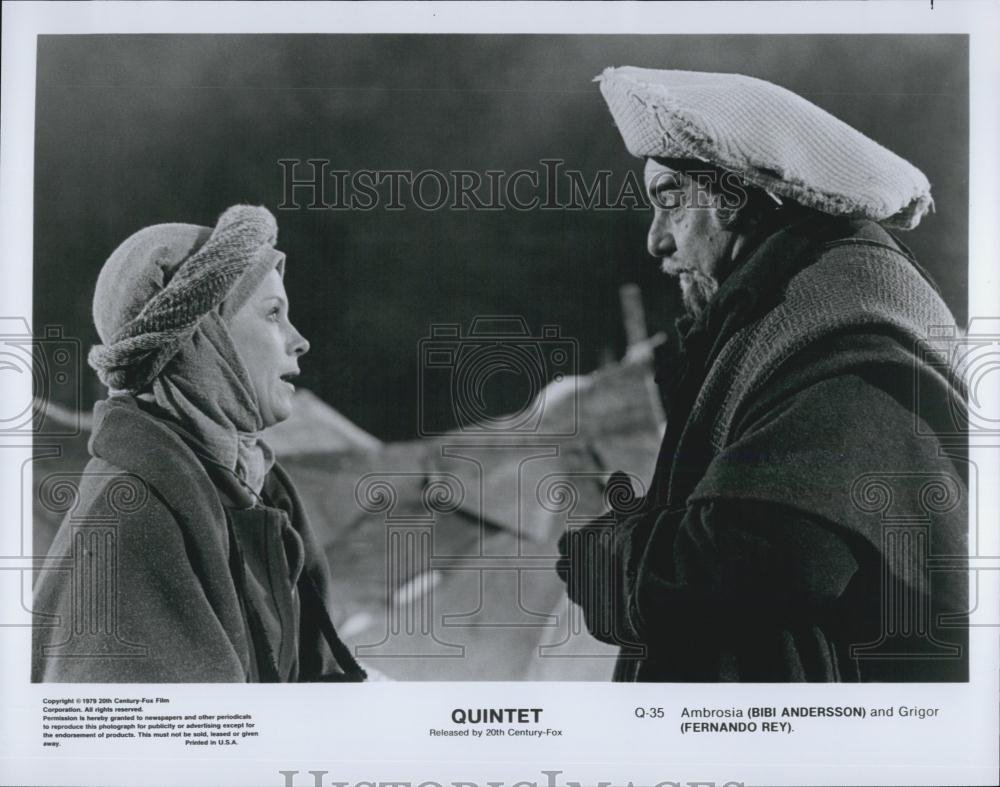 Amazon.com: Vintage Photos 1979 Press Photo Actress Bibi Anderson, Fernando Rey in Quintet Film: Photographs