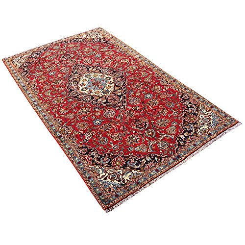 10' x 5.7' Red Color floral Rug, Wool Hand Knotted Rug, Floral design Oriental Rug, classic design. Code: S0101151 , Vintage Floor Rug,Traditional Fancy Carpet