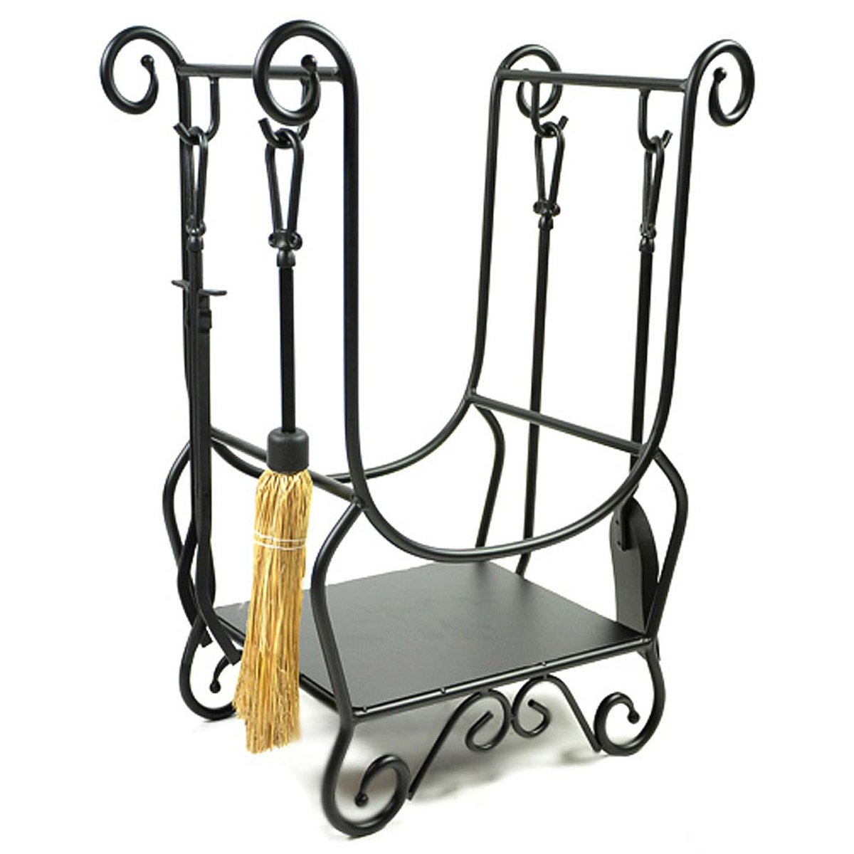 amazon com woodeze hr26216a scroll wrought iron firewood rack