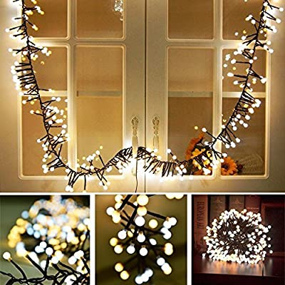 Festival String Lights Globe String Lights Fairy Decorative Light Warm White 400 LED Firecracker Decorative Lamp LED Light for Wedding Patio Backyard Bedroom Festival Party Decoration - Special design, this light can use in different weather. Led as bulb to insure the light is bright enough but does not over heat. Firecrackers style design, warm white string lights create a romantic and comfortable atmosphere. - patio, outdoor-lights, outdoor-decor - 610mz56ekeL. SS400  -