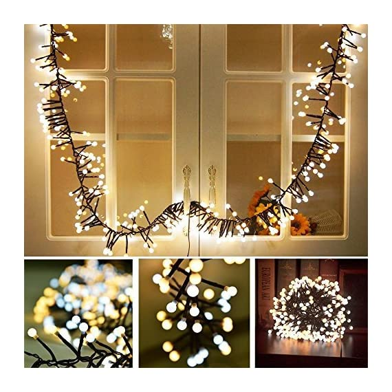 Festival String Lights Globe String Lights Fairy Decorative Light Warm White 400 LED Firecracker Decorative Lamp LED Light for Wedding Patio Backyard Bedroom Festival Party Decoration - Special design, this light can use in different weather. Led as bulb to insure the light is bright enough but does not over heat. Firecrackers style design, warm white string lights create a romantic and comfortable atmosphere. - patio, outdoor-lights, outdoor-decor - 610mz56ekeL. SS570  -