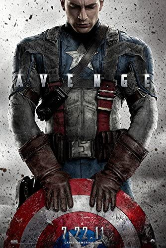 """Amazon.com: Captain America (The First Avenger) - (24"""" X 36"""") Movie Poster:  Posters & Prints"""