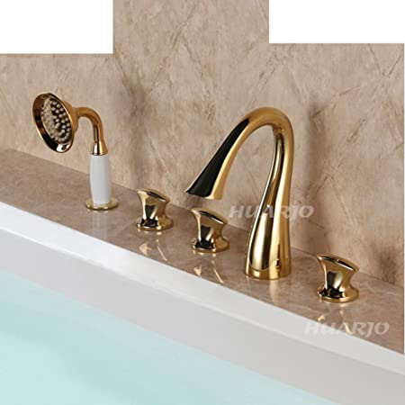 European-style split-type bathtub faucet/Tank side Dragon waterfall ...