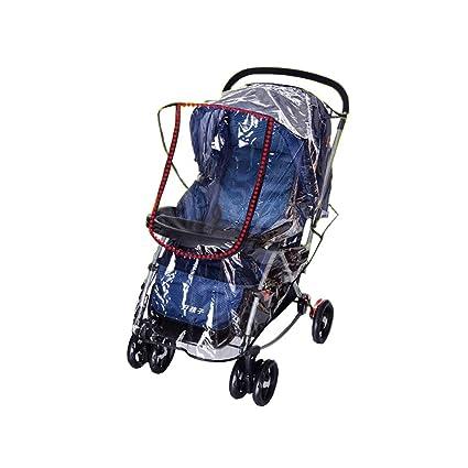 Comfysail Cubierta de Lluvia de Cochecito de Bebé Universal Lluvia Protector Contra Lluvia y Viento Impermeable para Silla de Paseo de Bebé