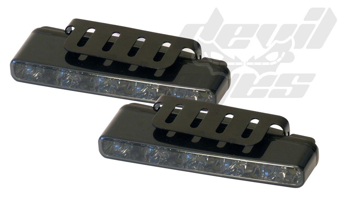 Devil Eyes 610765 LED Daytime Running Light Square ECE R87 2x5 LEDs Black