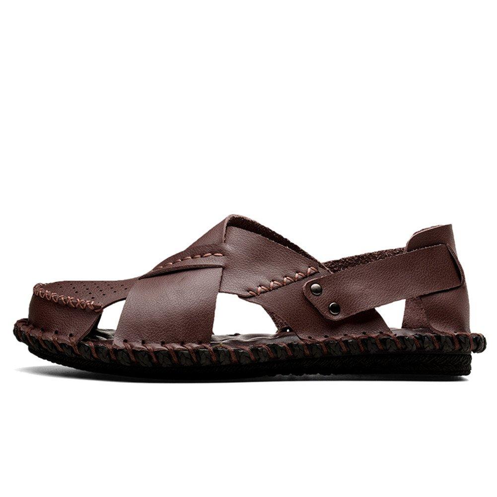Aaron Men's Premium Genuine Leather Casual Fashion Slipper Casual Leather Beach Shoes B07FTMYPS8 Sandals f2fa62