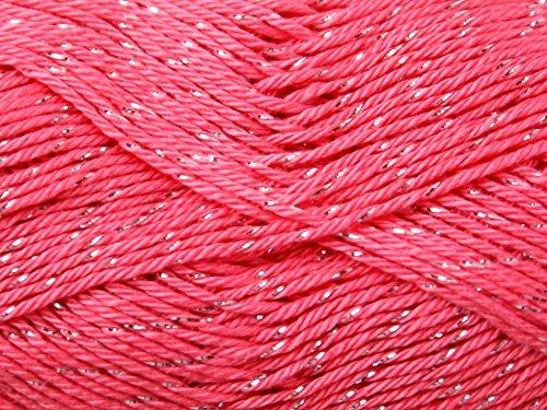 Supreme Sparkle - Wendy Supreme Sparkle Cotton Knitting Yarn DK 1917 Coral Shine - per 100 gram ball