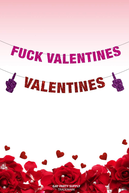 Amazon Com Fuck Valentine S Day Banner Fuck Valentine S Anti Valentines Day Anti Valentine Love Stinks Funny Valentines Day Decor Handmade