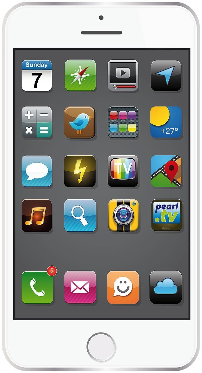 Pearl Toalla con diseño de smartphone, 170 x 100 cm, color blanco: Amazon.es: Hogar