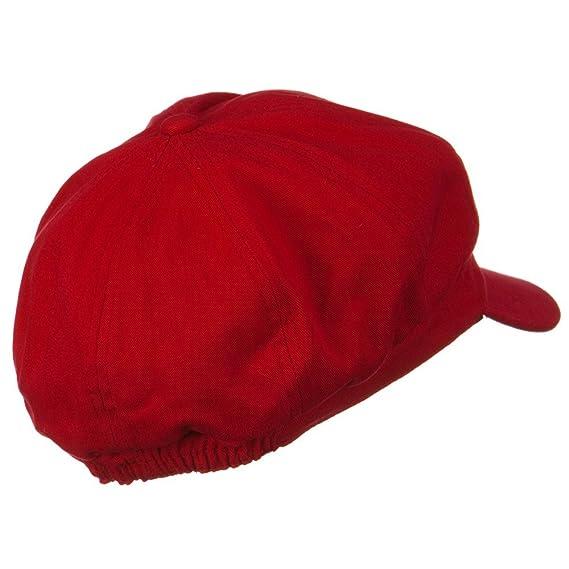 b46d882801e Amazon.com  Cotton Elastic Newsboy Cap - Red M L  Clothing