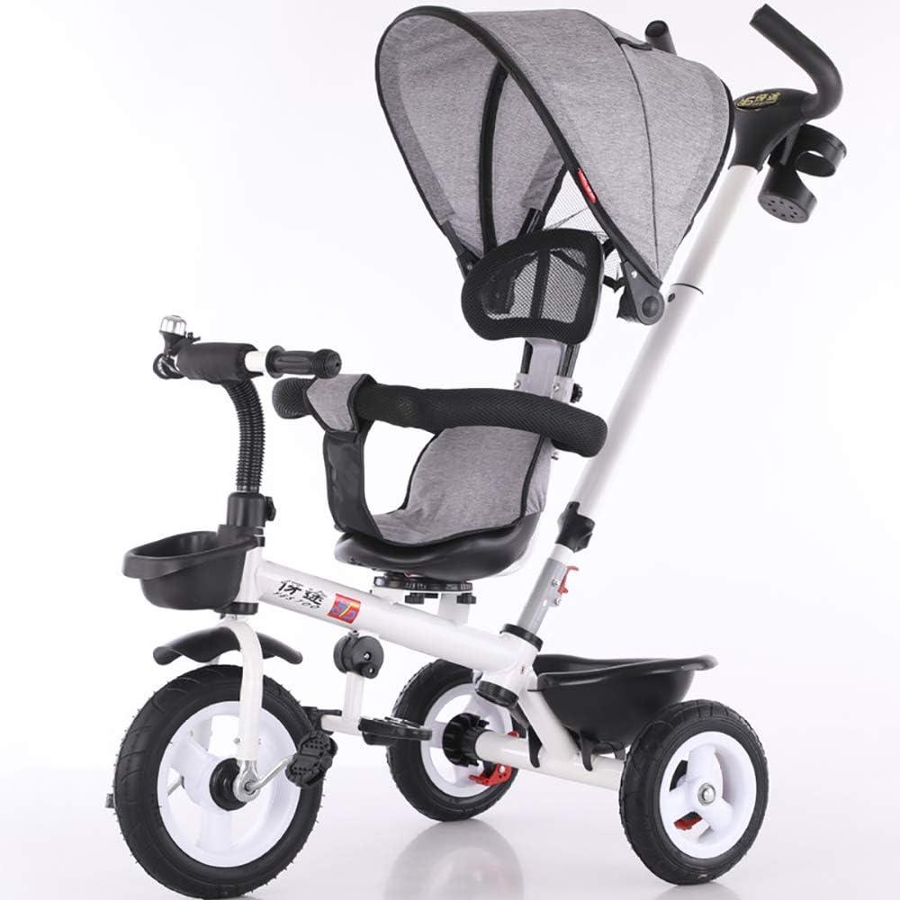 Aocean Triciclo Bebe Evolutivo,BebéS a Partir de Los 8 Meses,con Control Parental Desde El Mango Y Ruedas con Banda De GomaCapacidad de Carga 30KG