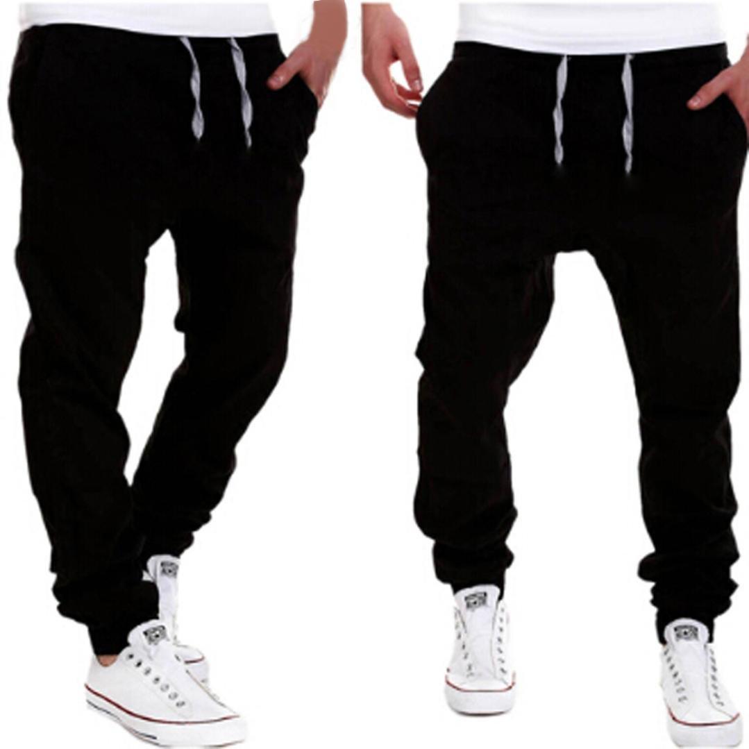 Amlaiworld Pantalones de Chándal de hombres Pantalones de Deporte pantalones  jogger casuales para hombre. Ampliar imagen 5a493ec82e5b