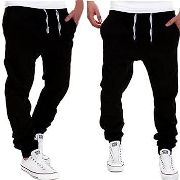 Amlaiworld Pantalones de Chándal de Hombres Pantalones de Deporte ...