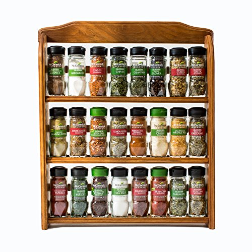 McCormick Gourmet Three Tier Wood Spice Rack, 1 oz