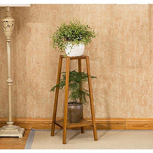 Flower Stand PHTW HTZ Moderno Semplice Balcone in Legno con Piano di Legno Multistrato in Legno di bambù ++ (Dimensioni   Two Layers)