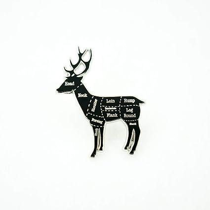 Swell Amazon Com Deer Venison Butcher Cuts Diagram Hard Enamel Lapel Wiring 101 Cajosaxxcnl