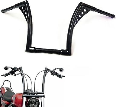 12 Rise 1-1//4 Batwing Ape Hanger HandleBar Fit Harley Sportster XL Softail FLST FXST Black