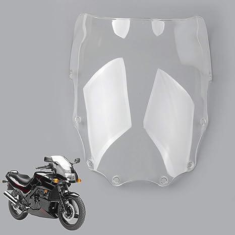 Areyourshop ABS Moto Windshield Windscreen For Kawasaki EX500 Ninja 500R 1987-2009 Clear
