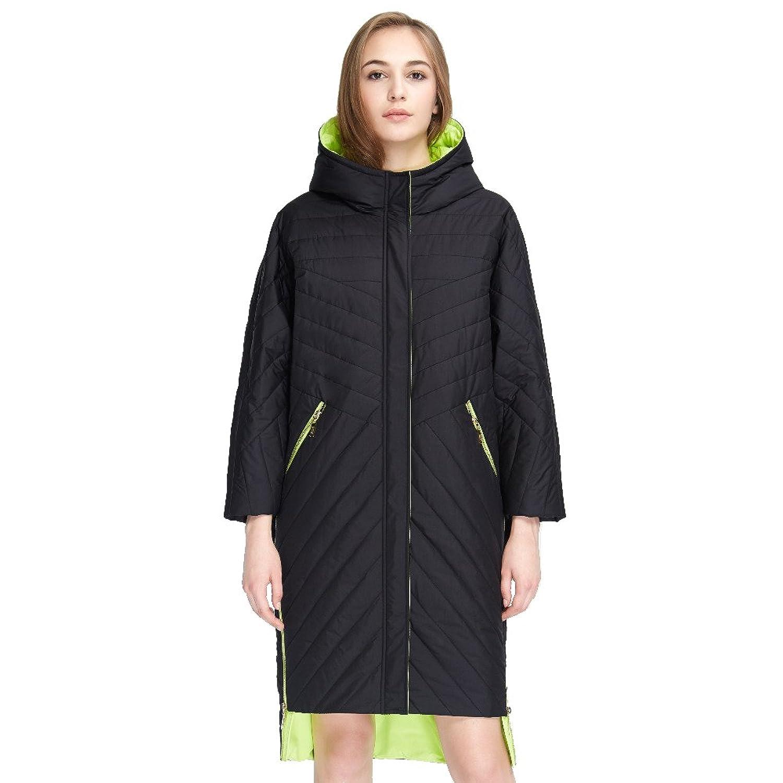 Women's Lightweight Dolman Sleeves Hood Casual Long Coat Cotton Jacket