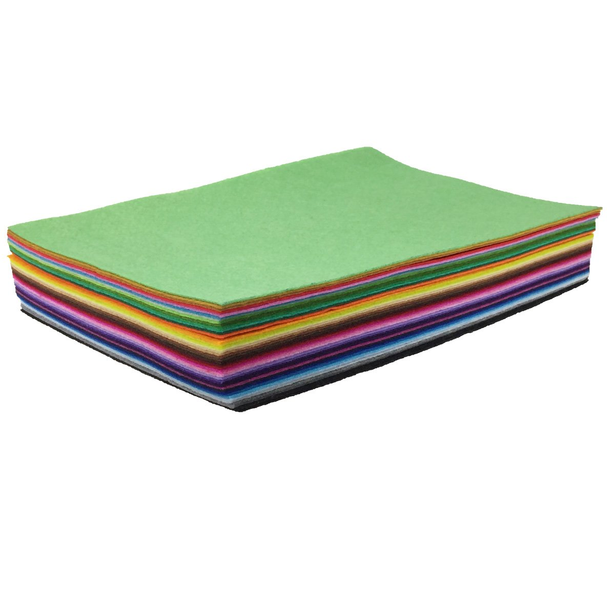 flic-flac 42pcs 8 x 12 inches (20cm30cm) 42 Colors for Choice A4 Felt Fabric Sheet Assorted Color Felt Pack DIY Craft Patchwork by flic-flac (Image #3)