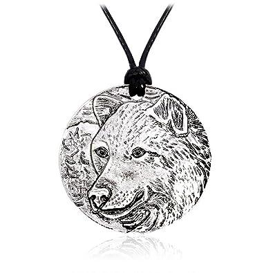 Amazon.com: meiligo Retro nórdico Vikings Wolf amuleto ...