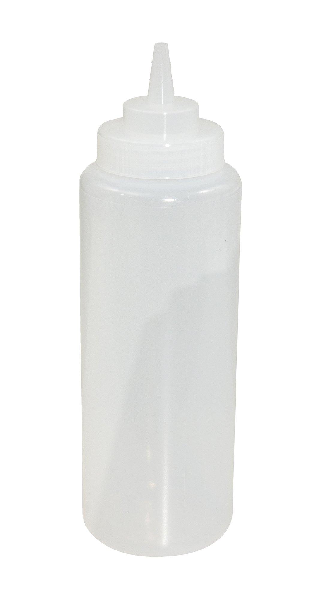 Crestware SB32CW (1 dz.) Squeeze Wide Mouth Bottle (1 Dozen), 32 oz, Clear by CRESTWARE