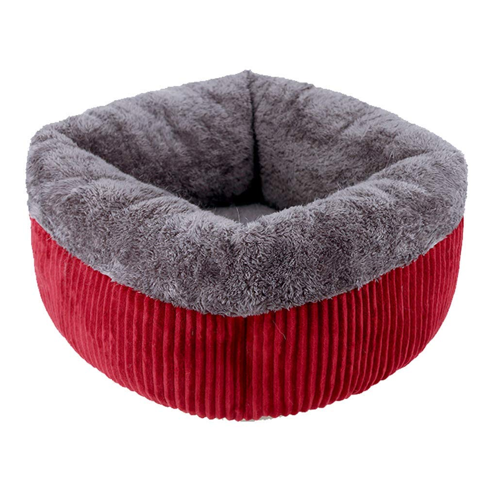 Red 35cm45cmPet Bed Pet Bed Deep Sleep Pet Nest Cat Litter Washable Four Seasons Universal Rebound Sponge House Sleeping Bag 3 color Optional (color   Red, Size   35cm45cm)