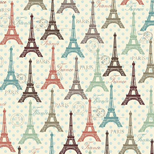 French Eiffel Tower Cotton Fabric by The ()