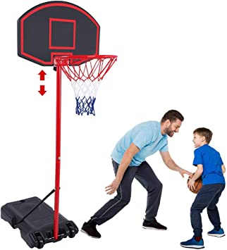 New Portable Basketball Set with Net Backboard Hoop Ball Outdoor Game Set