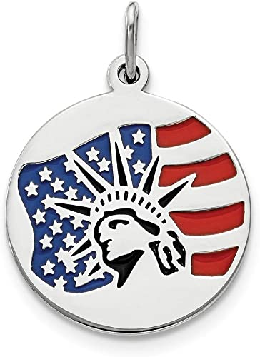 Fine Sterling Silver Statue of Liberty Pendant Necklace