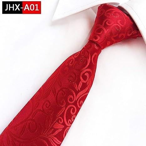 KYDCB Nuevo diseño de Corbatas para Hombre Estilo Chino Rojo ...