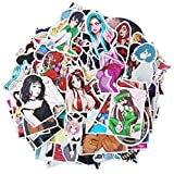 Sexy Girl Anime Laptop Stickers Waterproof Skateboard Pad Macbook Car Snowboard Bicycle Luggage Decor (100PCS)